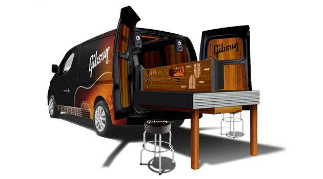 Nissan and Gibson Build Mobile Guitar Restoration Workshop