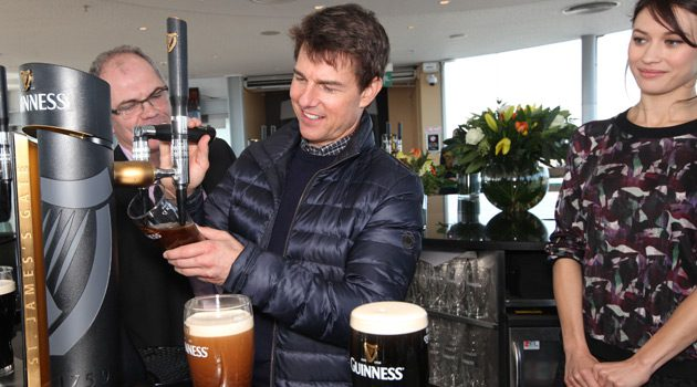 Tom Cruise Visits The Guinness Storehouse In Dublin
