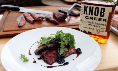 Grilled Skirt Steak with a Balsamic, Cherry & Knob Creek Bourbon Steak