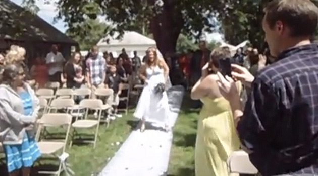 "Classy Bride Walks Down The Aisle To Buckcherry's ""Crazy Bitch"""