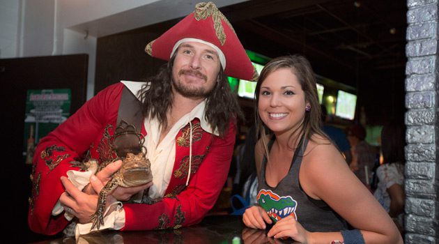 Captain Morgan Shows Up Florida Fans Saturday, Adopting Live Pet Gator