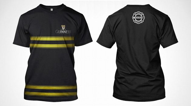 Guinness Releases Firefighter-Inspired Tee