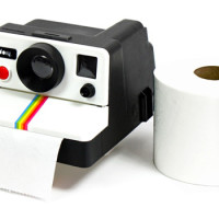 Polaroll: A Toilet Paper Dispenser Shaped Like A Polaroid Camera