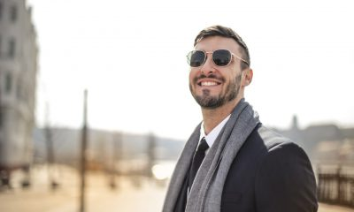 Man wearing scarf