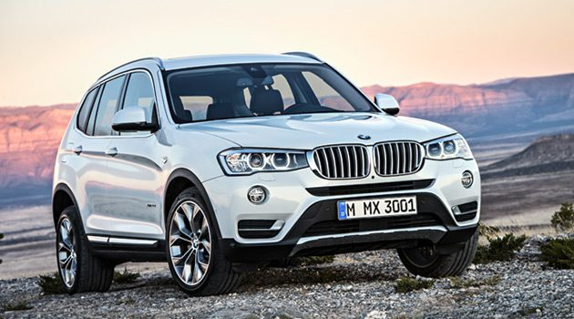 2015 BMW X3 Gets Updated Styling, Diesel Option