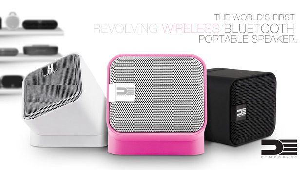 DEMOCRACY Revolving Wireless Bluetooth Portable Speaker