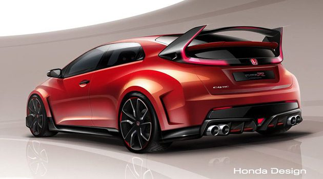 Honda Civic Type R Concept Model To Debut At Geneva Motor Show