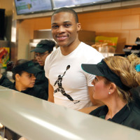 Russell Westbrook Spends A Day Making Sandwiches At Subway