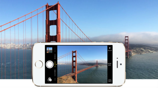 Taking a photo with iPhone