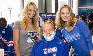 NY Rangers Legends Get Shaved By SI Swimsuit Models