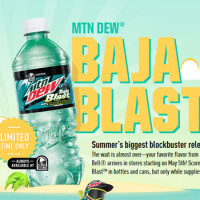 Mtn Dew Baja Blast Bottles To Hit Selves For Limited Time Only