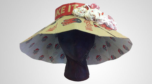 Pizza Hut Gets Into Derby Mode With Hats Made From Pizza Boxes