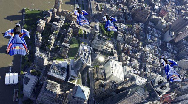 World's Top Wingsuit Athletes Fly Over Manhattan Skyline