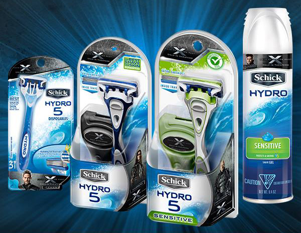 Schick Hydro Partners Wtih X-MEN