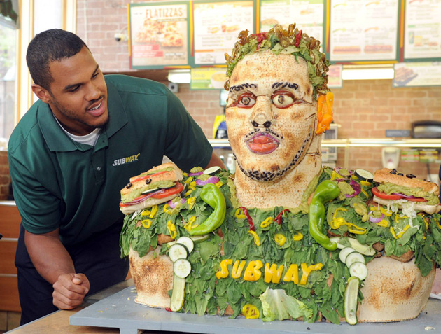 Subway Food Statue - Anthony Barr