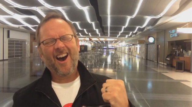 Man Trapped Overnight at Vegas Airport Shoots Ridiculous Music Video