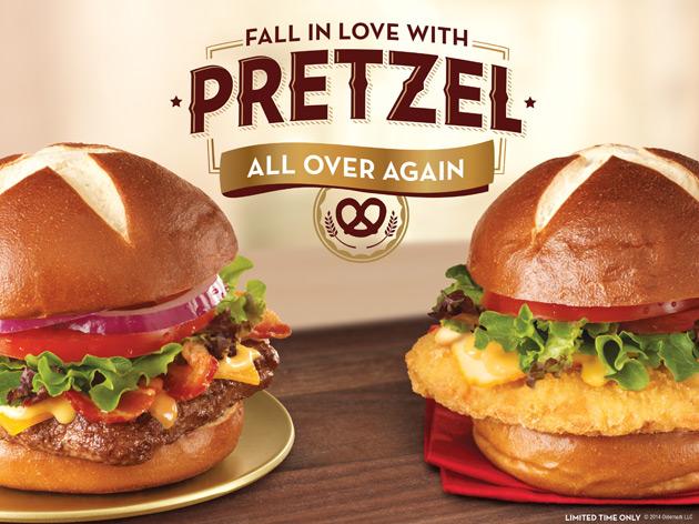 Wendy's Pretzel Sandwiches