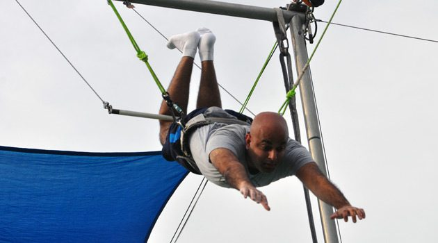 Flying High In Trapeze School With Dove Men+Care
