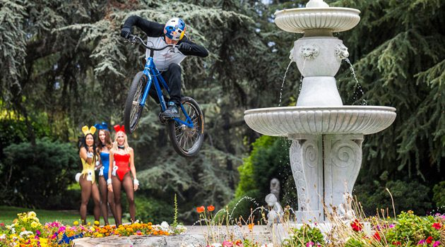 Danny MacAskill Takes On The Playboy Mansion