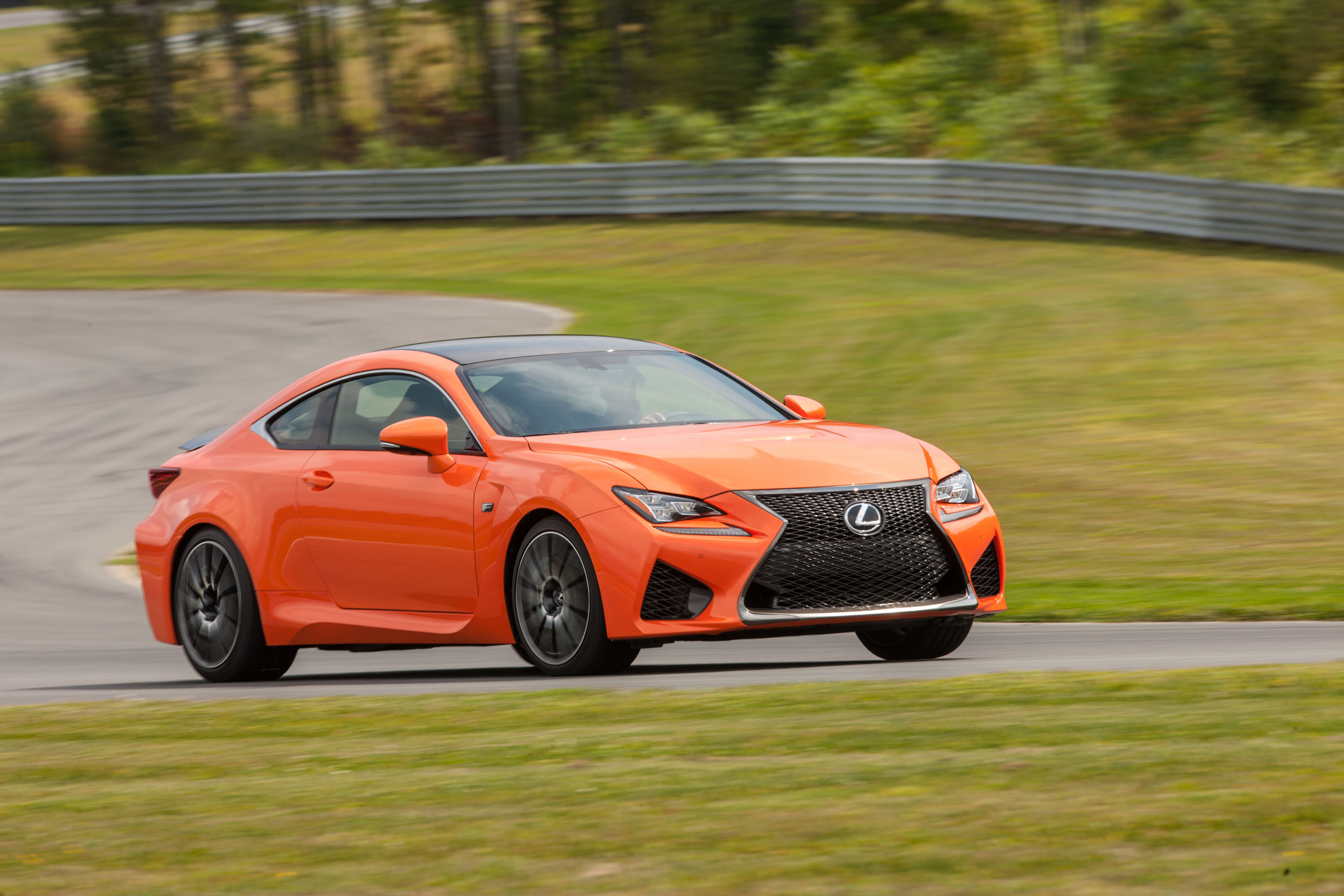2015 Lexus RC F on track at Monticello Motor Club
