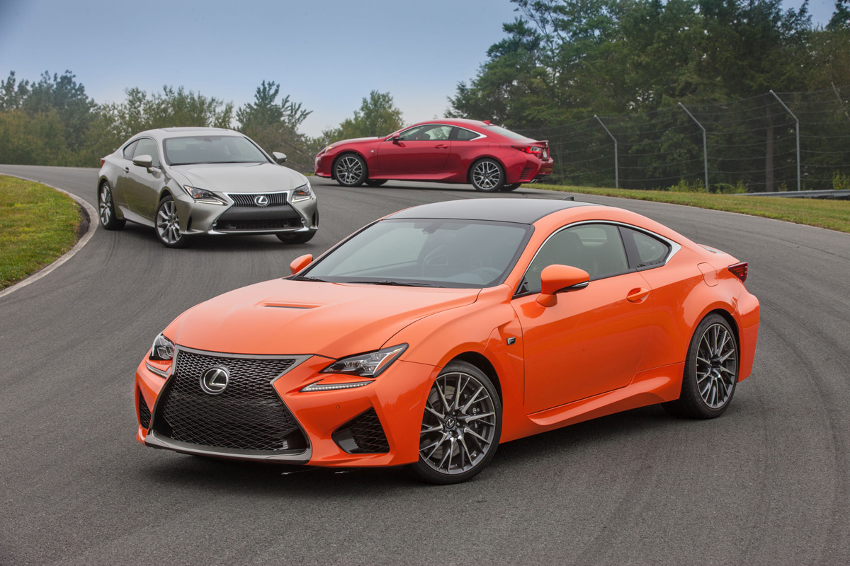2015 Lexus RC and Lexus RC F on track at Monticello Motor Club