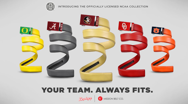 Misson Belt - NCAA Licensed Belts