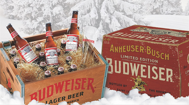 Budweiser Holiday Crate and Case