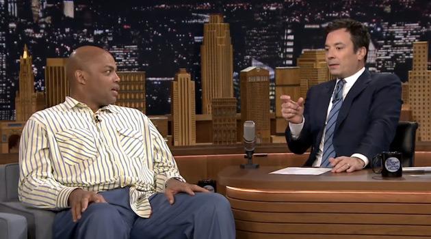 Jimmy Fallon talks with Charles Barkley