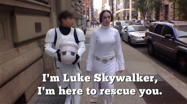 Princess Leia getting harrassed in NYC