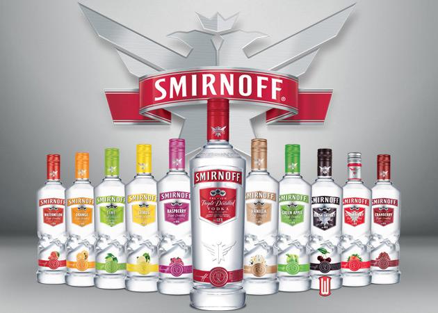 Sminoff Vodka line