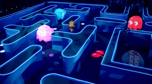 "Bud Light's ""Coin"" Super Bowl Ad Features A Life-Size Pac-Man Game"