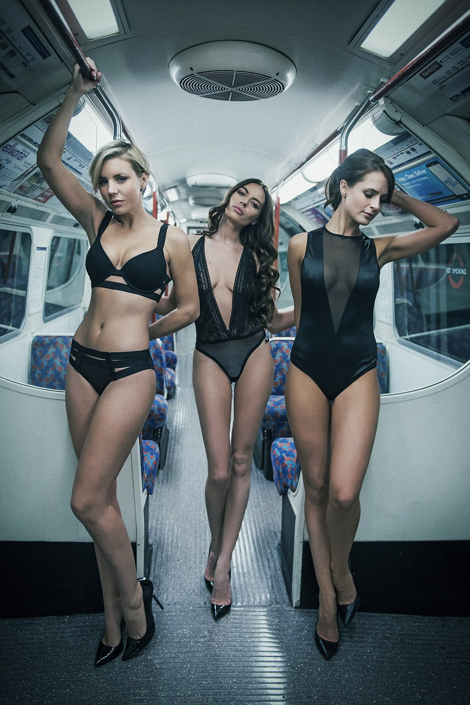 Lingerie Clad Models Turned London Underground Into A Sexy