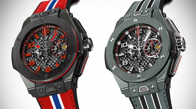 Big Bang Ferrari Black and Grey Ceramic Watches By Hublot