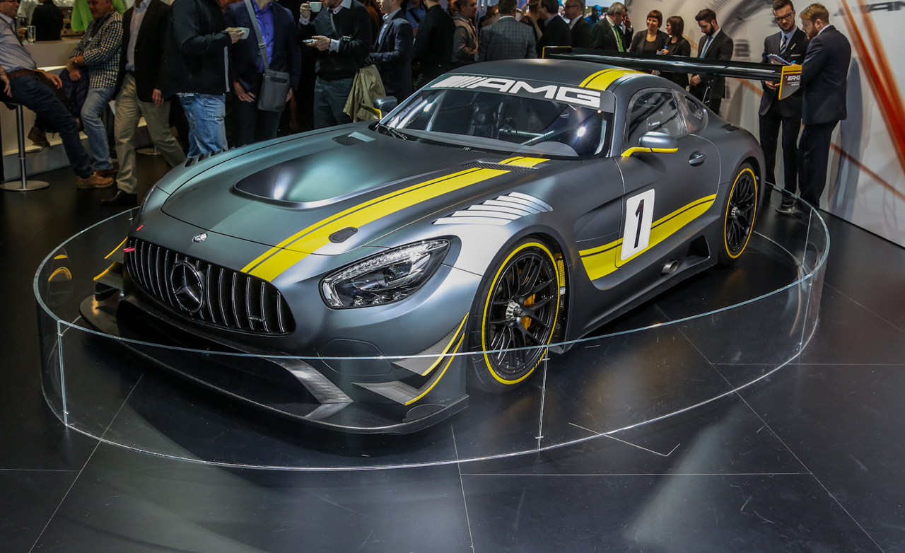 The top 10 cars at the geneva motor show for Mercedes benz sls amg gt3 price