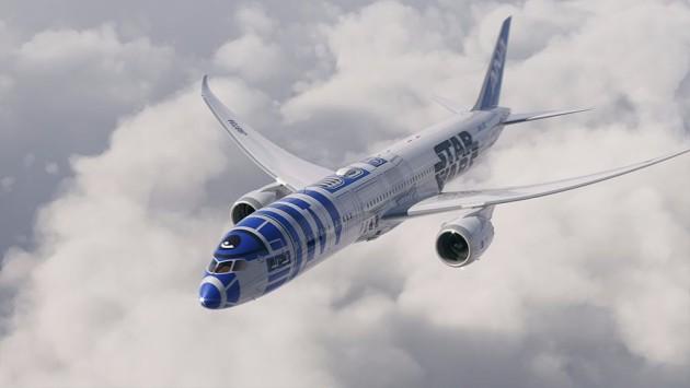 ANA Star Wars R2D2 Plane