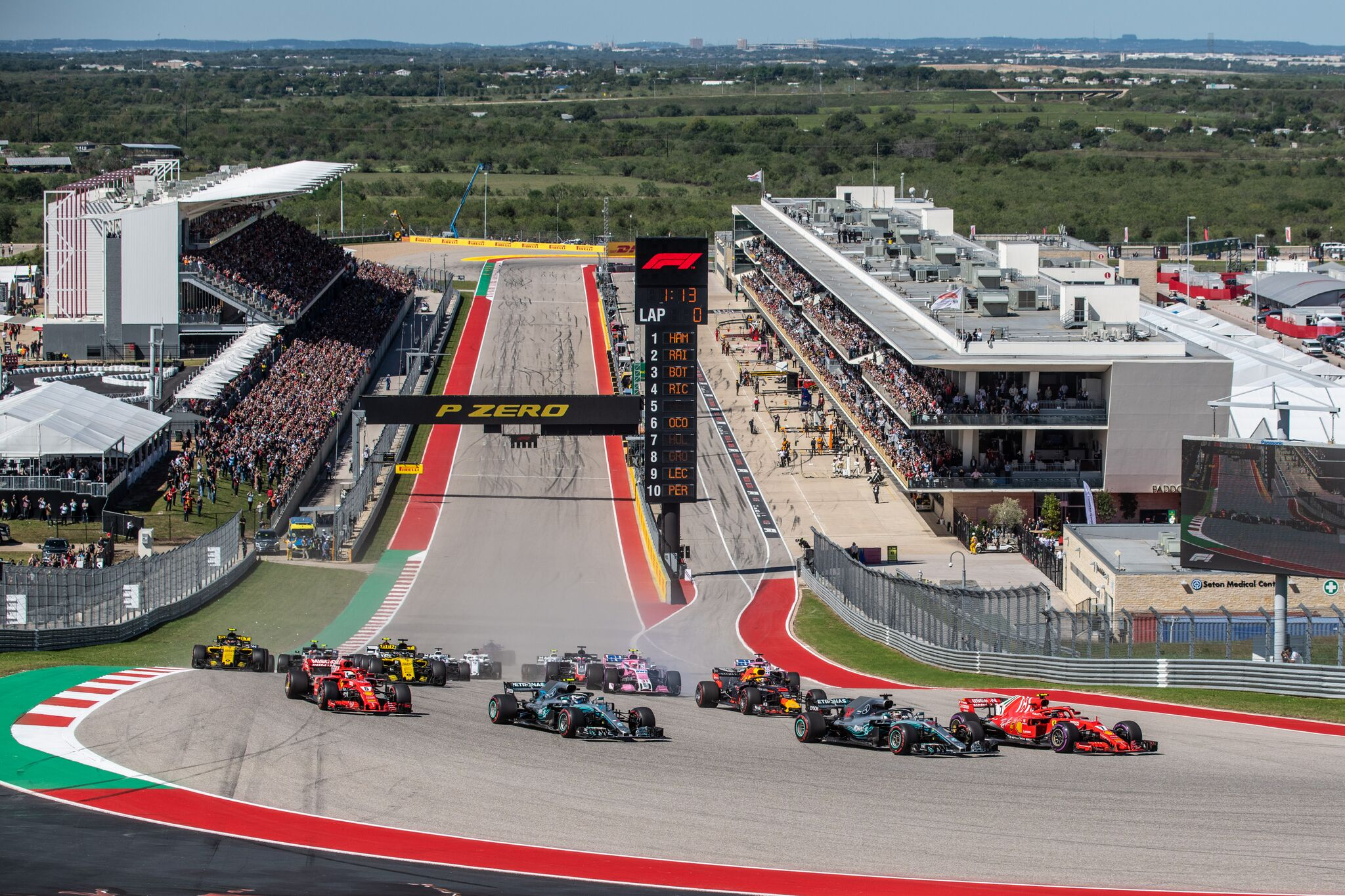 F1 Returns To COTA For 2016