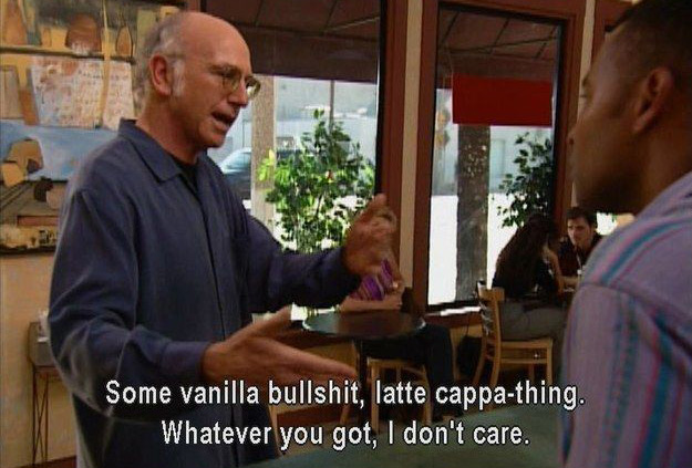 Larry David Orders Coffee