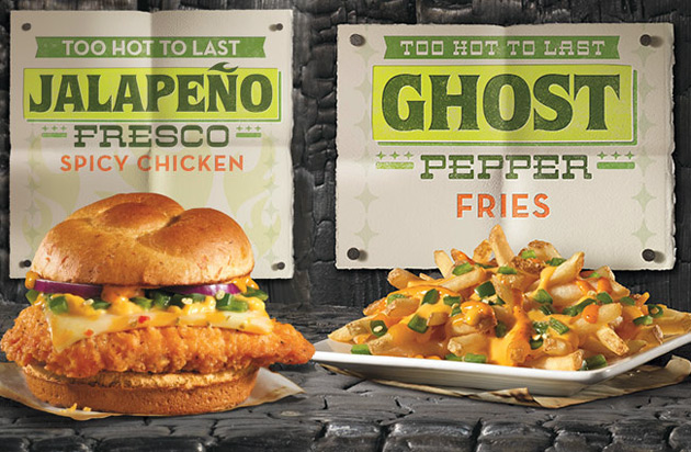 Wendy's Jalapeno Fresco Spicy Chicken Sandwich and Ghost Pepper Fries