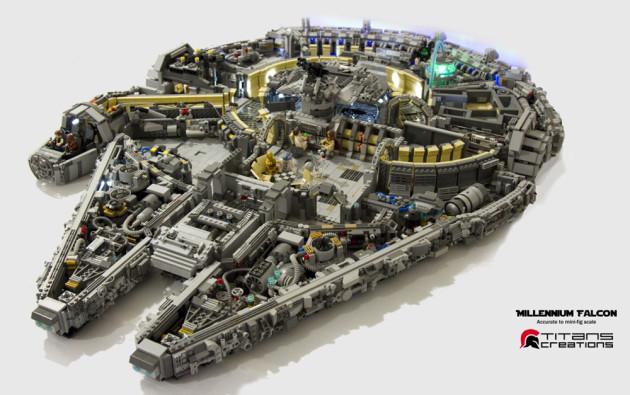 10000-Piece LEGO Millennium Falcon-1