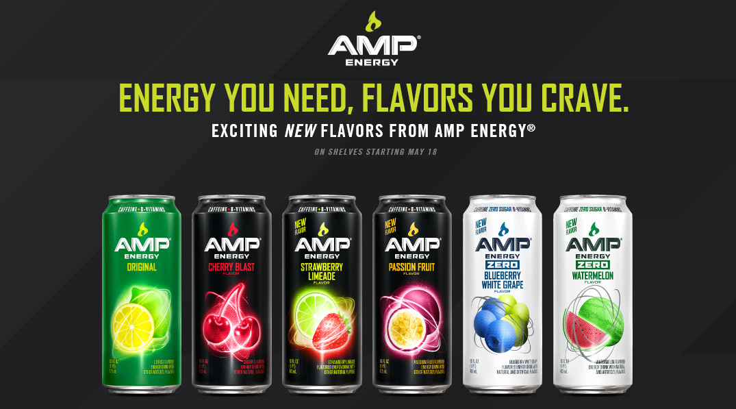 Amp Energy Introduces Four New Flavors