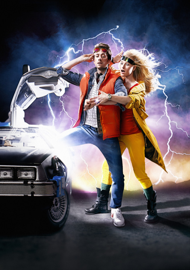 Back To The Future Engagement Photo