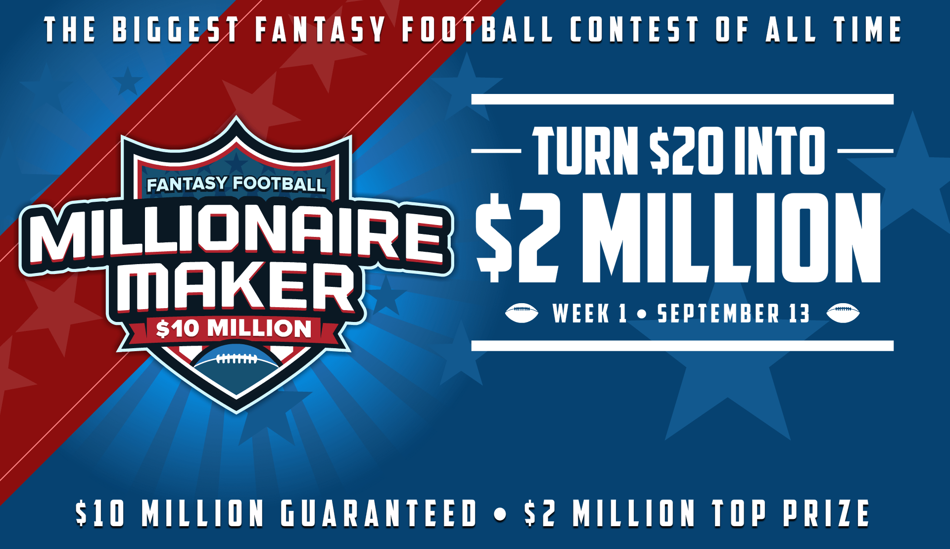 DraftKings Fantasy Football Millionaire Maker