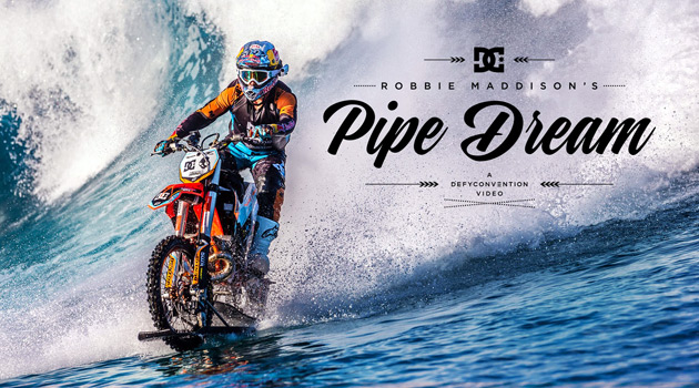 Daredevil Robbie Maddison Defies Logic, Surfs A Wave On A Dirt Bike
