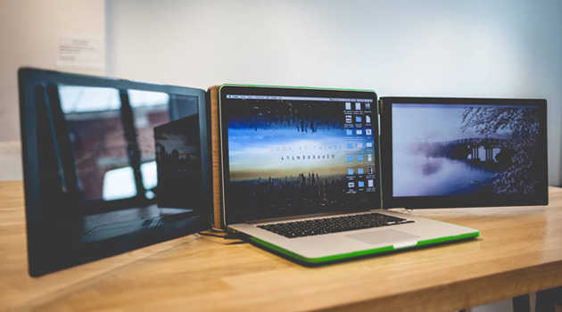 Triple The Size Of Your Laptop Screen With The Sliden'Joy