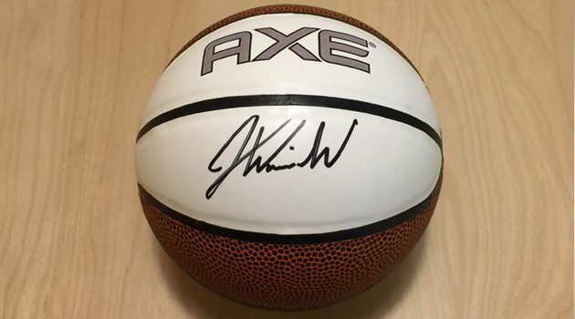Justise Winslow signed AXE Basketball