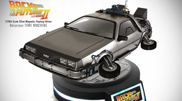Check Out This Awesome BTTF II Floating DeLorean Time Machine