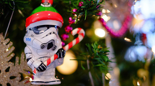 Stormtroopers Assembling Christmas Tree