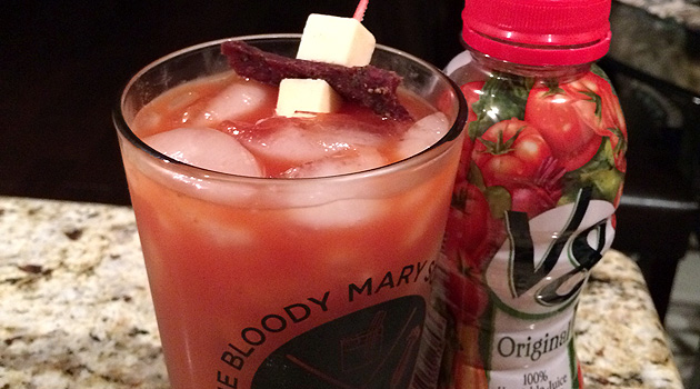 Take Your Bloody Mary To The Next Level With V8.. And Beef Jerky!