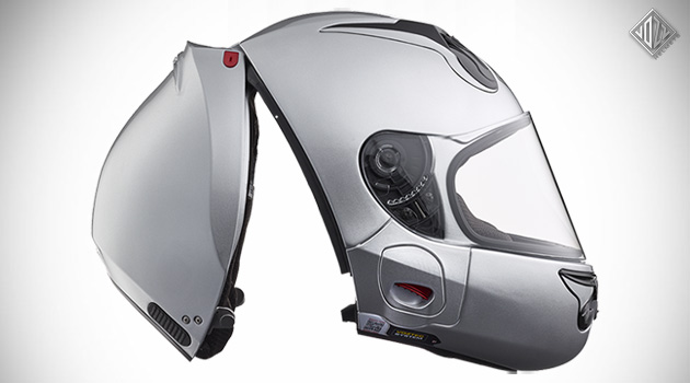 The Vozz RS 1.0 Motorcycle Helmet Does Away With The Chinstrap