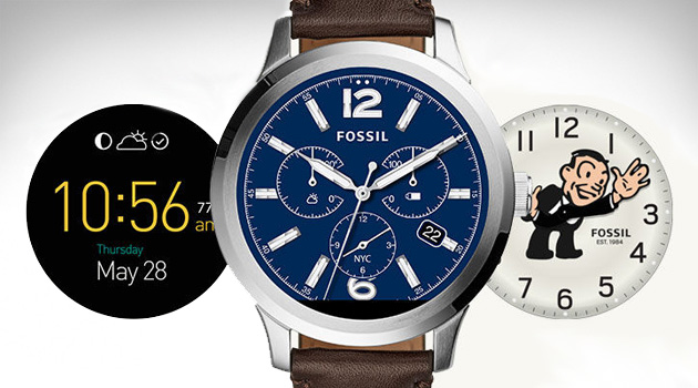 Fossil Q Founder watch faces